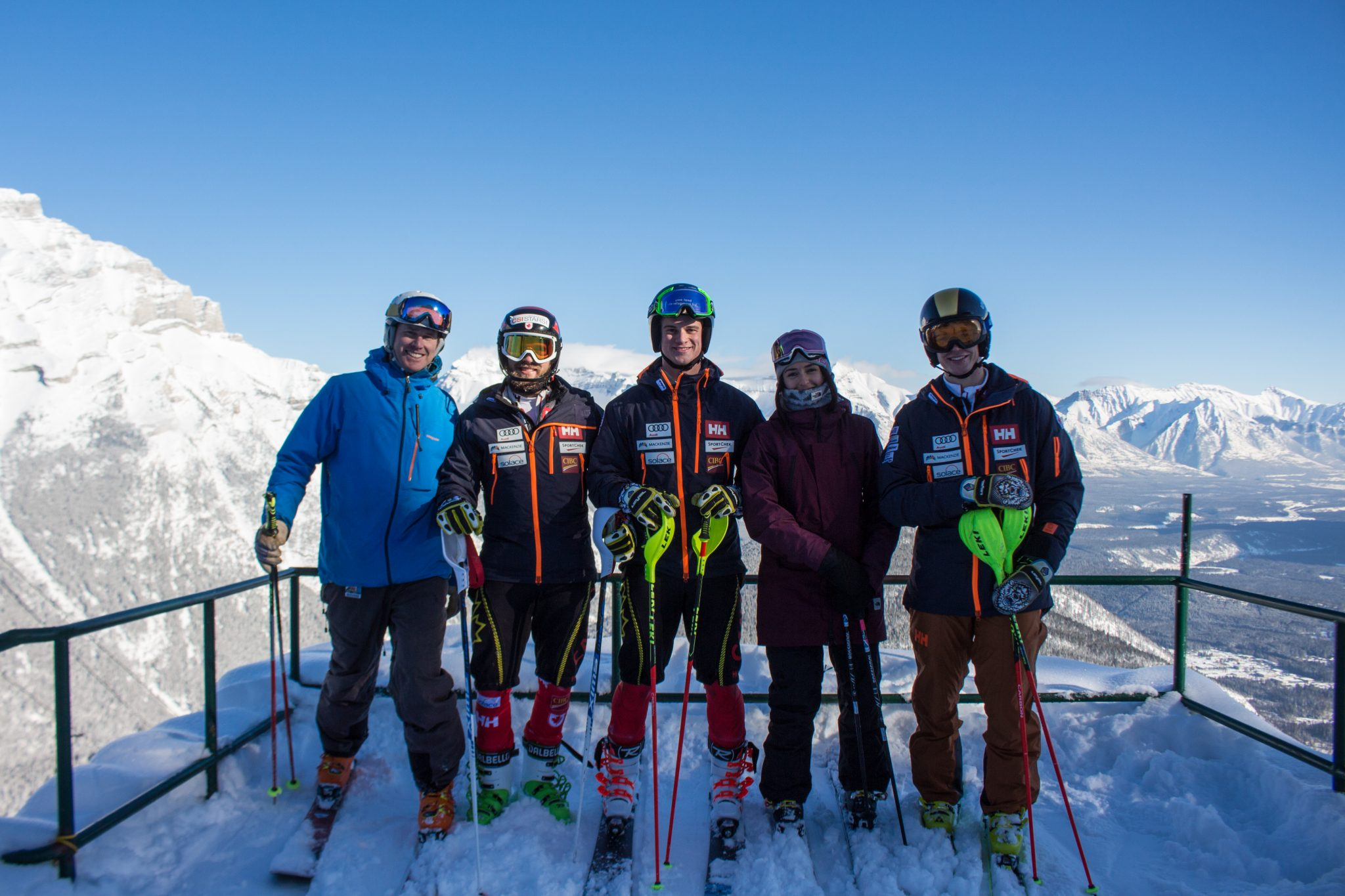 image-5_bar-alumni-phil-brown-erik-read-trevor-philp-on-a-powder-day-at-norquay-in-feb-2018.-pictured-with-norquays-simon-moffatt-and-freeskiing-star_former-bar-tatum-monod